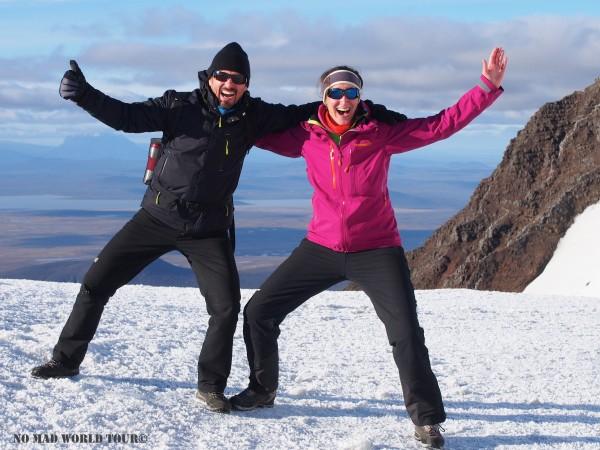 Laurent et Marianne au sommet du Snaefell en Islande